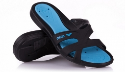 Сланцы женские Arena Athena Woman Hook black/turquoise