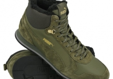 Обувь спортивная Puma ST Runner Mid Fur Olive Night - Black