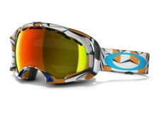 Горнолыжная маска OAKLEY Splice Snow Goggles Cubism Orange Fire Iridium